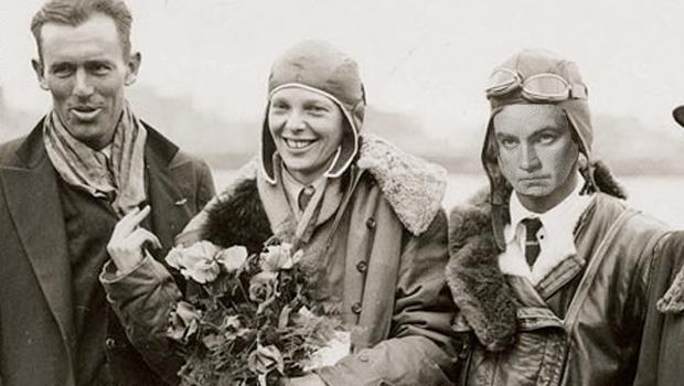Beethoven flies with breaker-of-glass ceilings, Amelia Earhart.