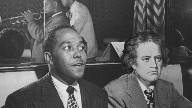 Venturing into new musical lands, Beethoven drops by a Charlie Parker recording session.