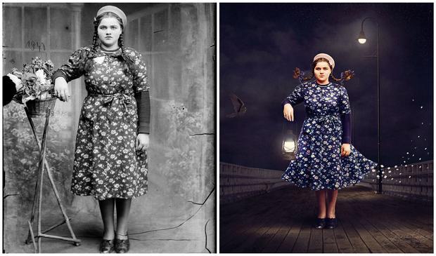 Left: Tînără (1940) by Costică Acsinte, Right: Beacon by Jane Long
