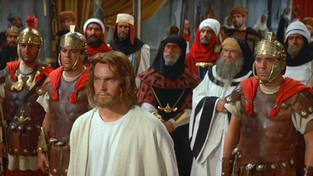 'King of Kings' (1961) starring Jeffrey Hunter as Jesus and Robert Ryan as John the Baptist