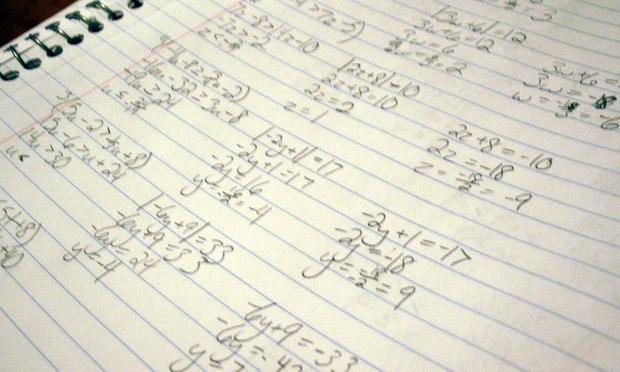 notebook, math
