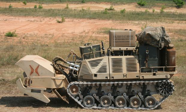 An HDT 'Protector' at the Army Robotics Rodeo at Fort Benning (David Axe/Flickr)
