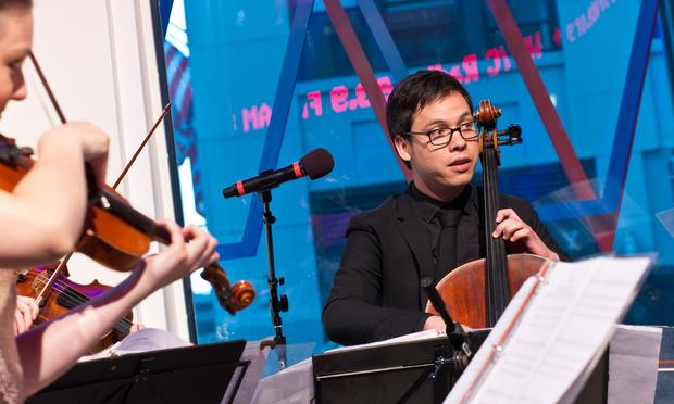 Cellist Andrew Yee of the Attacca Quartet