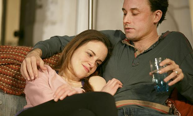 Maria Dizzia as Abby and Greg Keller as Zack in Amy Herzog's new play 'Belleville' at New York Theatre Workshop.