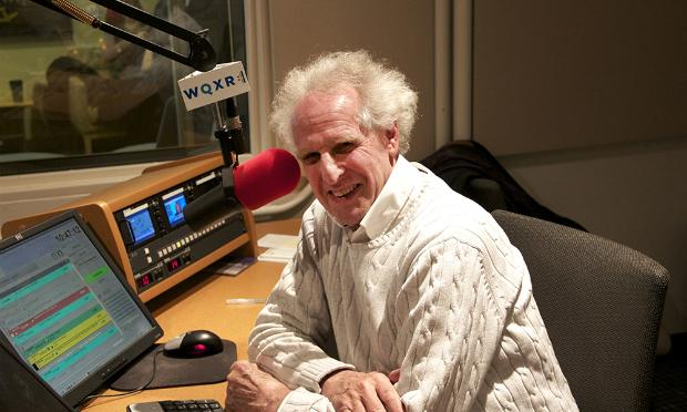 Conductor Benjamin Zander in the WQXR studio.