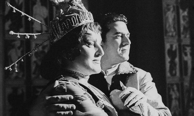 Birgit Nilsson and Giusepe di Stefano in Puccini's 'Turandot' at Vienna State Opera in 1961.