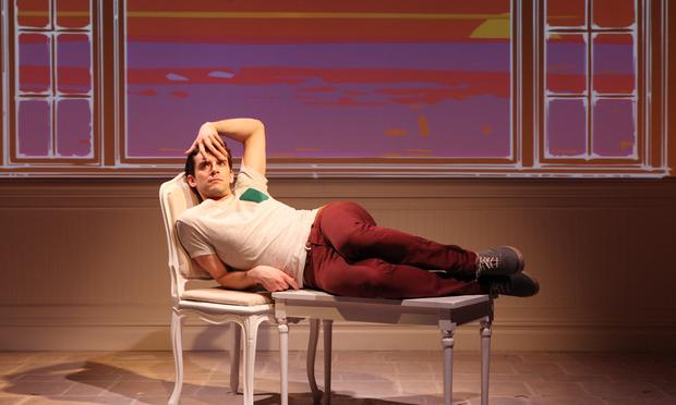 Michael Urie in 'Buyer & Cellar' at the Barrow Street Theatre.