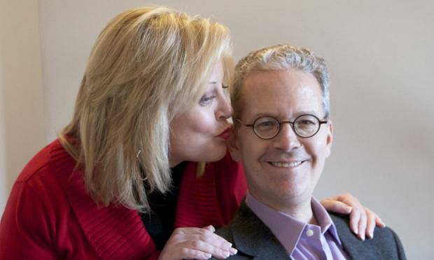 Deborah Voigt Sneaks a Kiss on Pianist Brian Zegers Cheek