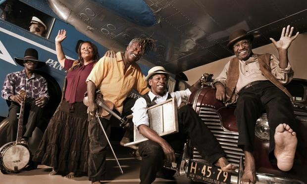 The Ebony Hillbillies are playing on the square outside Brooklyn Public Library tonight.