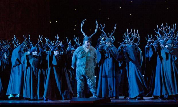A scene from Verdi's 'Falstaff' with Ambrogio Maestri in the title role.