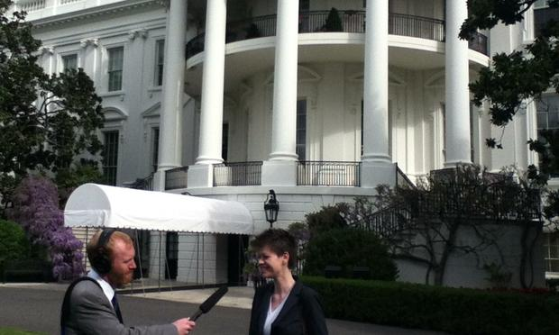 Radiolabbers Soren Wheeler and Brenna Farrell at the White House Science Fair 2013