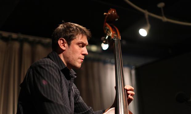 Bassist Ben Allison performs in the Soundcheck studio.
