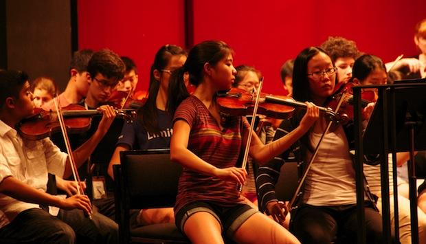 Lily Tsai is concertmaster of the National Youth Orchestra of the USA