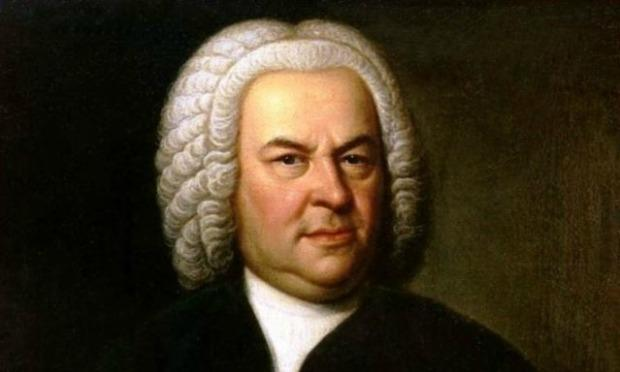 Detail of a portrait of Bach
