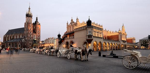 Market Square in Kraków, Poland