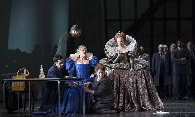 Donizetti 's 'Maria Stuarda' at the Royal Opera House, Covent Garden in London starring mezzo-soprano Joyce DiDonato and soprano Carmen Giannattasio.