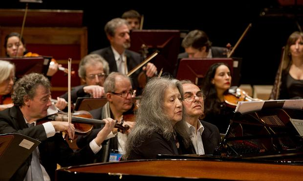 Pianist Martha Argerich performs in 2015 at the Nestor Kirchner Culture Centre.