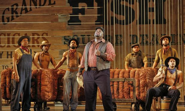 Morris Robinson and chorus in 'Show Boat'