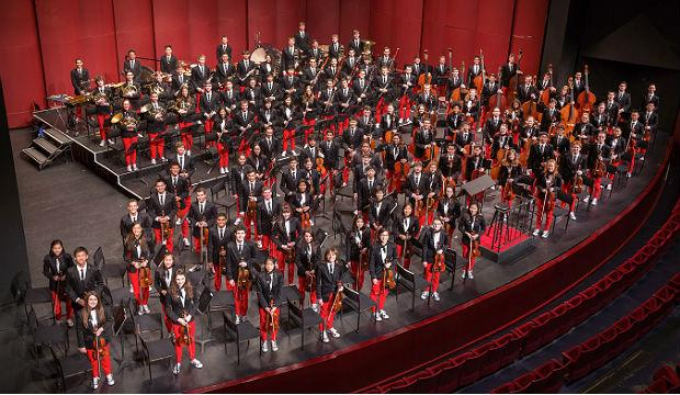 National Youth Orchestra of the United States in concert dress