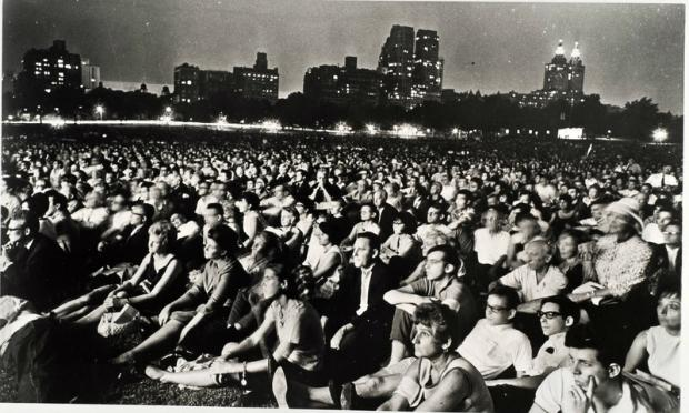The audience at a 1965 New York Philharmonic concert in Central Park