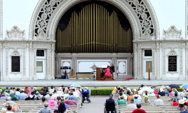 Spreckels Organ Pavilion in Balboa Park.