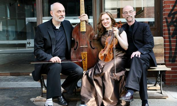 Trio Settecento: cellist John Mark Rozendaal, violinist Rachel Barton Pine, and harpsichordist David Schrader