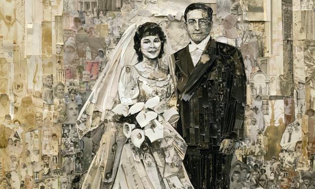 Wedding (detail), Album, 2013, Digital C-Print (Vik Muniz)