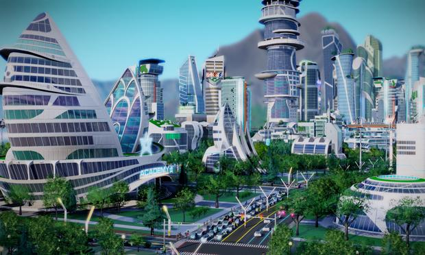 A still from SimCity: Cities of Tomorrow.