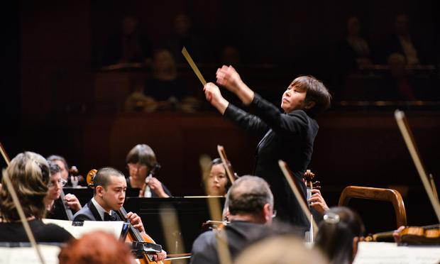 Xian Zhang with the NJSO in April 2016.
