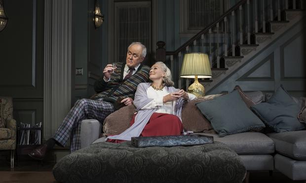 John Lithgow and Glenn Close in Edward Albee's 'A Delicate Balance' at the John Golden Theatre.
