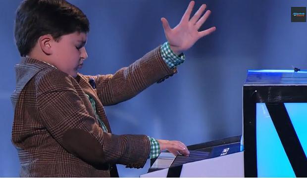 Adrian Romoff performs on 'America's Got Talent' on NBC