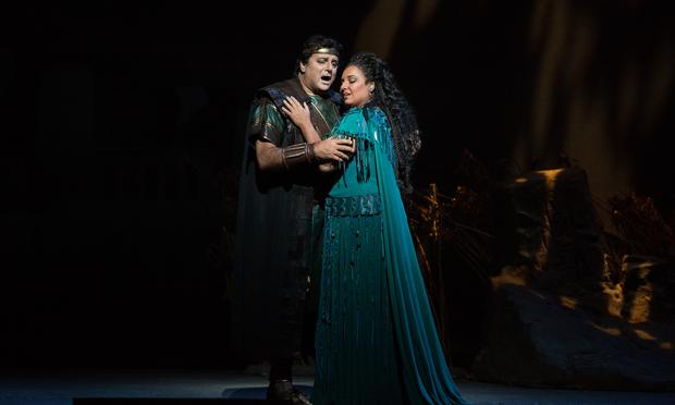 Marcello Giordani as Radamès and Liudmyla Monastyrska as Aida in Verdi's Aida