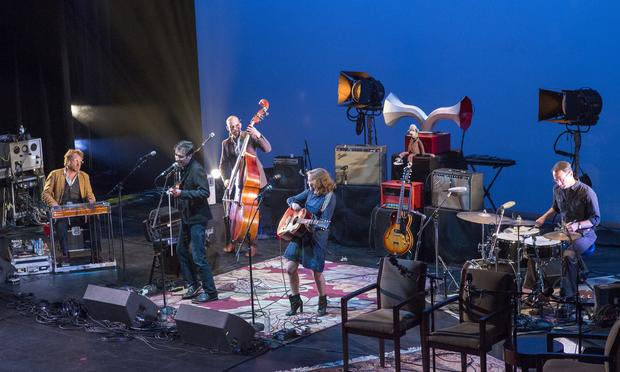 Andrew Bird and the Hands of Glory onstage at the Brooklyn Academy of Music