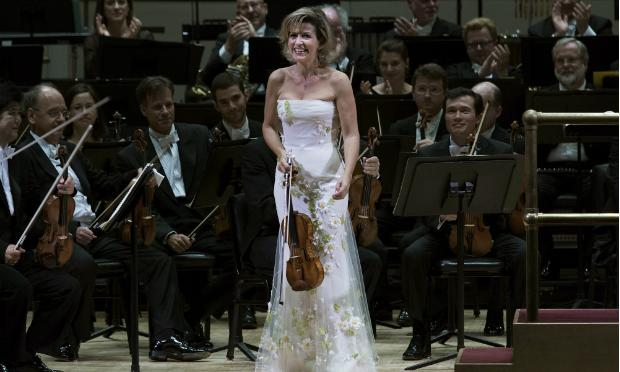 Anne-Sophie Mutter with the Berlin Philharmonic at Carnegie Hall's opening night.
