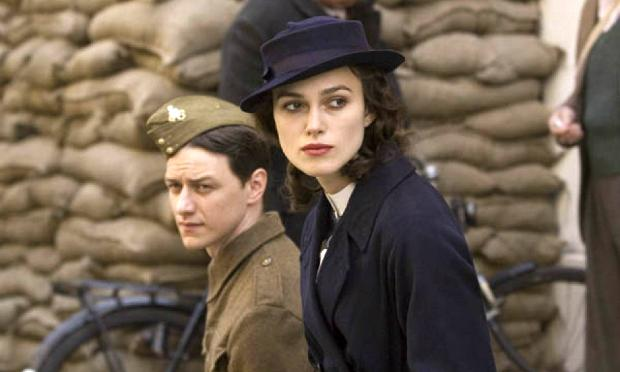 Keira Knightley and James McAvoy in 'Atonement'
