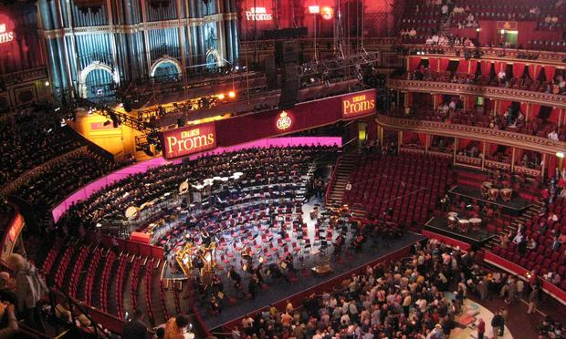 The BBC Proms in Royal Albert Hall.