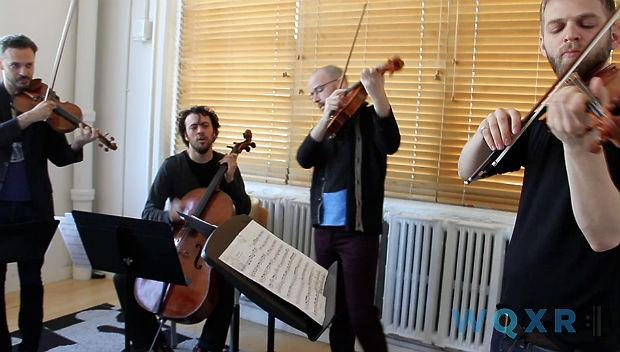 Brooklyn Rider performs in the WQXR Cafe