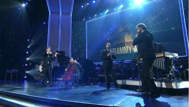 Chamber Group Eighth Blackbird performs at the Grammy Awards on Feb. 10