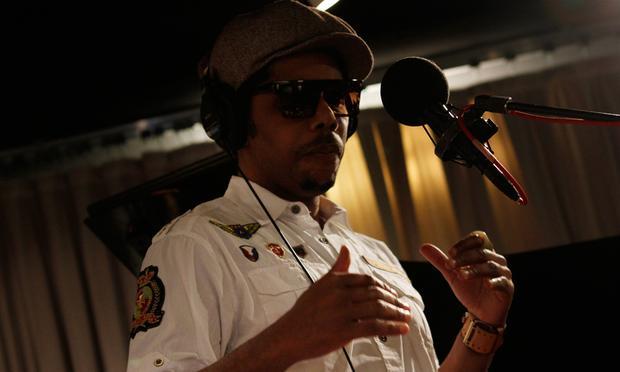 Carl Hancock Rux performs in the Soundcheck studio.