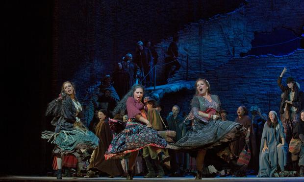 Anita Rachvelishvili (center) as the title character in Bizet's 'Carmen' at the Metropolitan Opera.