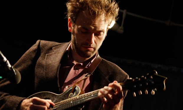 Chris Thile performs in the Soundcheck studio.