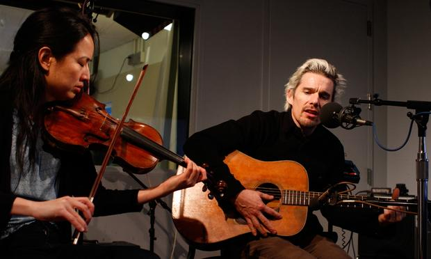 Ethan Hawke and violinist Dana Lyn perform music from the play Clive in the Soundcheck studio.