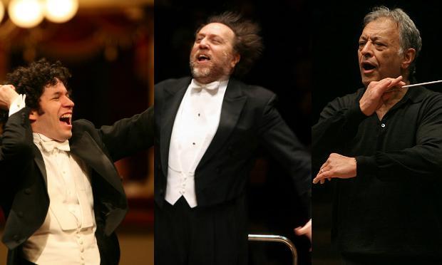 L-R: Gustavo Dudamel, Riccardo Chailly, Zubin Mehta
