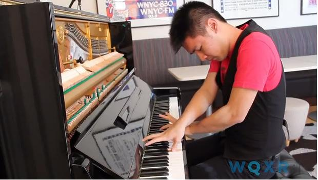 Conrad Tao plays in the WQXR Cafe
