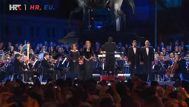 Croatia celebrates its EU membership with Beethoven's 'Ode to Joy'