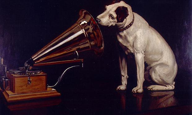 Nipper the RCA dog, painted by Francis Barraud (1929) .