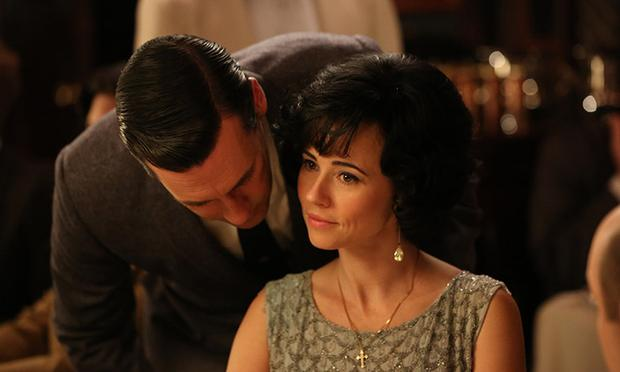 Don Draper (Jon Hamm) and Sylvia Rosen (Linda Cardellini) in Episode 3 of AMC's 'Mad Men'