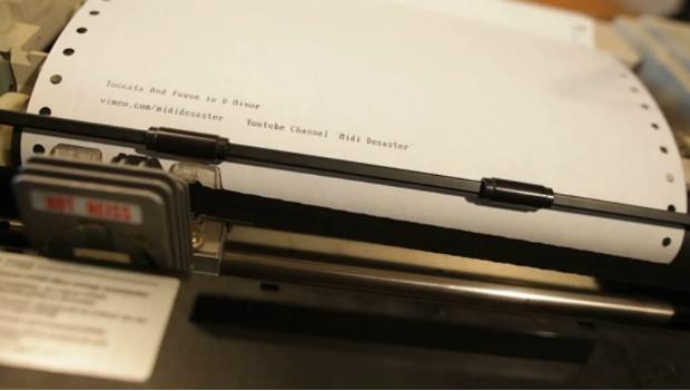 A dot matrix computer printer plays Bach