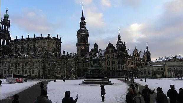 Dresden, main square near the Semperoper