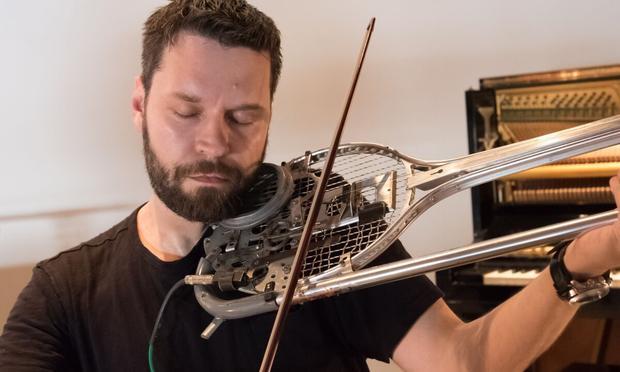 Composer-violinist Cornelius Dufallo at Pioneer Works for 2015 Ferus Festival